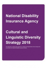 Cultural and Linguistic Diversity Strategy 2018 publication cover.