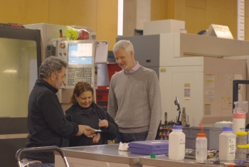 David Industry Fellow from RMIT, assists Brike employees Tony and Trish on the Brike project