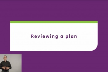 Reviewing a plan - Auslan