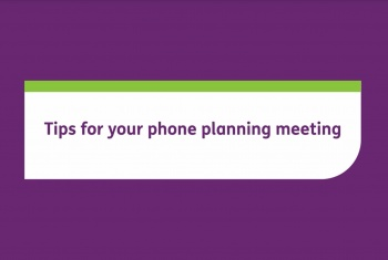 Tips for your phone planning meeting
