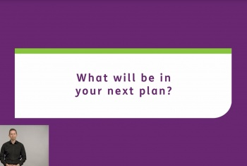 What will be in your next plan - Auslan