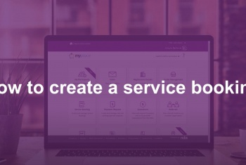 How to create a service booking