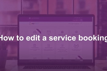 How to edit a service booking