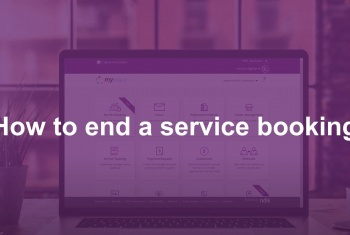 How to end a service booking