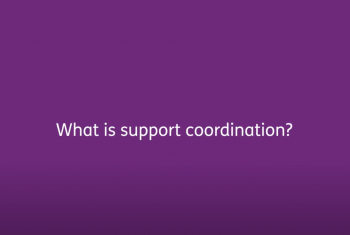 What is support coordination?