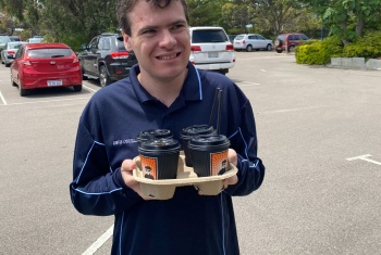 Devin's coffee delivery business booms