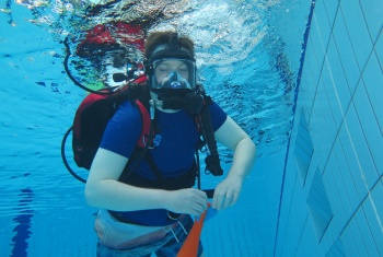 Mitch discovers calm, confidence and inclusion underwater